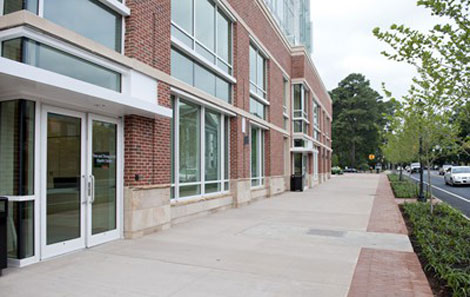 A view of the outside of UVA's Teen and Young Adult Health Center.